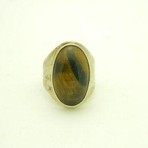 Heavy 12 grams Sterling Silver .925 Tiger's Eye